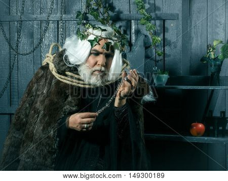 Zeus With Rope And Medallion