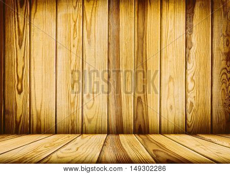 vintage brown wooden planks interior with artistic shadows added