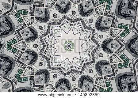 Dollar banknotes close up. Texture of dollars