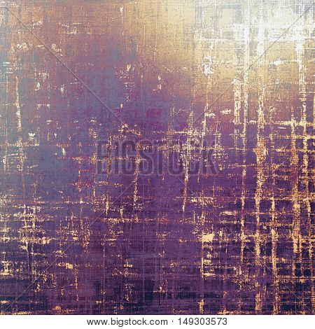 Scratched background with retro style overlay. Aged texture with different color patterns: yellow (beige); brown; gray; red (orange); purple (violet); pink