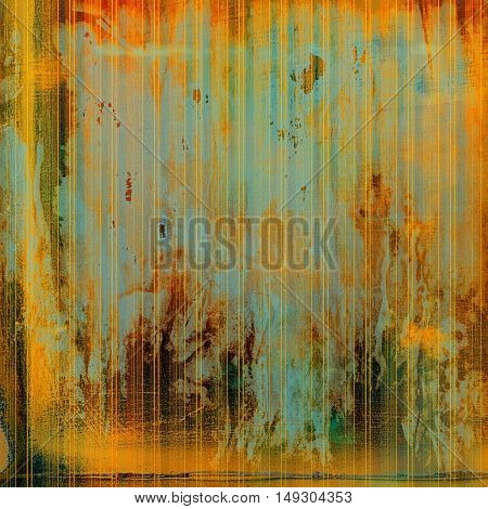 Old background with grunge decorative elements. Retro composition for your design. With different color patterns: yellow (beige); brown; gray; blue; red (orange)