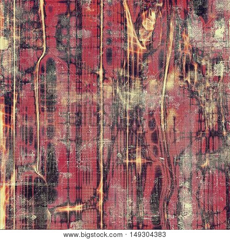 Grunge background or texture with vintage frame design and different color patterns: yellow (beige); brown; gray; red (orange); pink