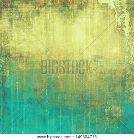 Retro vintage colored background with noise effect; grunge texture with different color patterns: yellow (beige); brown; gray; green; blue; cyan