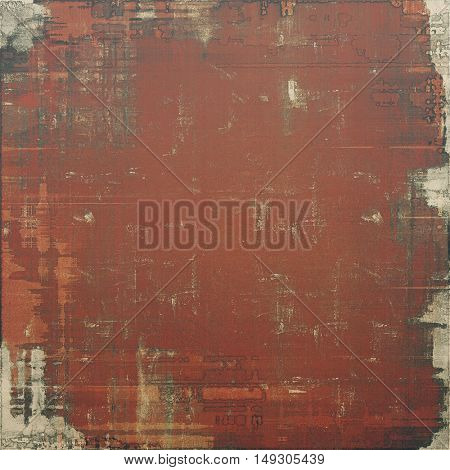 Grunge scratched background, abstract vintage style texture with different color patterns: yellow (beige); brown; gray; red (orange)