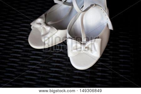 White bridal shoes