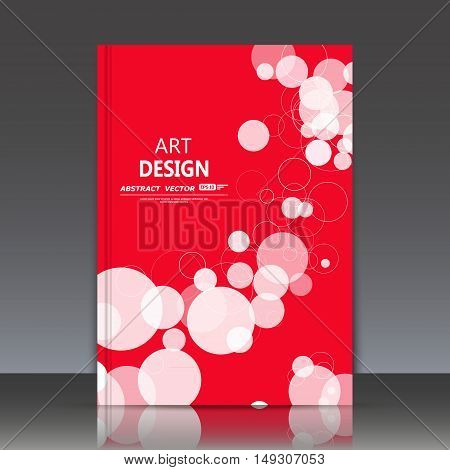 Abstract Composition, Geometric Shapes Icon, Bubbles Ornament, A4 Brochure Title Sheet, Round Logo C