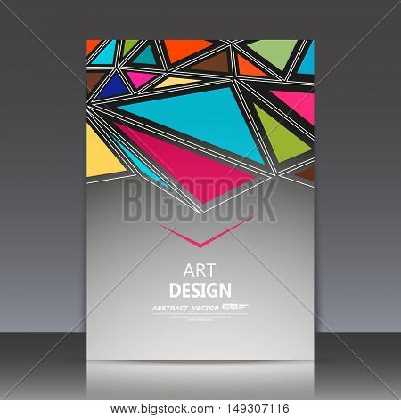 Abstract Composition, A4 Brochure Title Sheet, Geometric Shape, Medley Patchwork, Triangle Ornament,