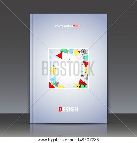 Abstract Composition, Colored Triangles In The Box, A4 Title Page Of The Brochure, Motion Background