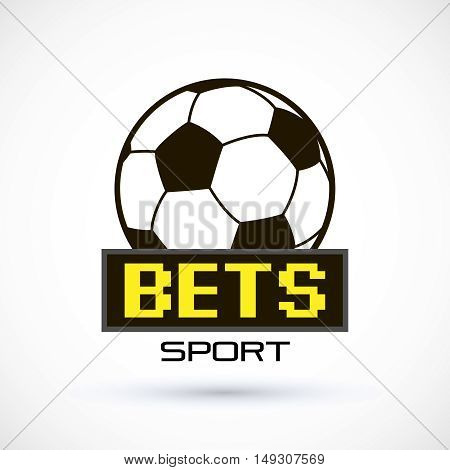 Sport logo betting scoreboard soccer ball logo. Vector Illustration Isolated On White Background
