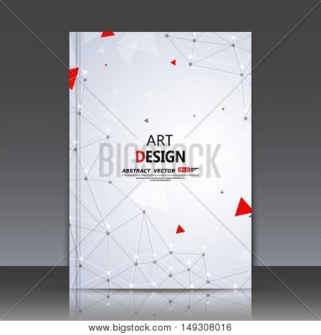 Abstract Composition, Polygonal Construction, Connecting Dots And Lines, A4 Brochure Title Sheet, Sp