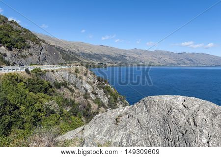 Viewpoint Of Lake Wakatipu At The Devil's Staircase, Queenstown, South Island Of New Zealand
