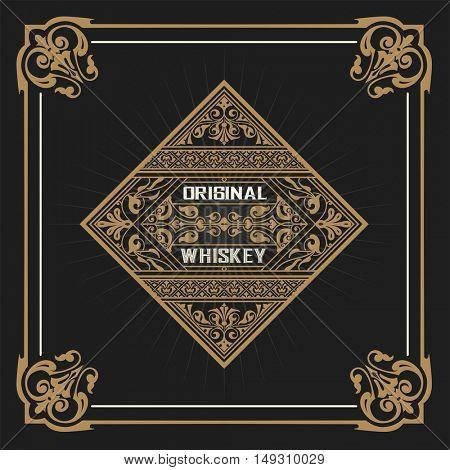 Art-deco Whiskey card
