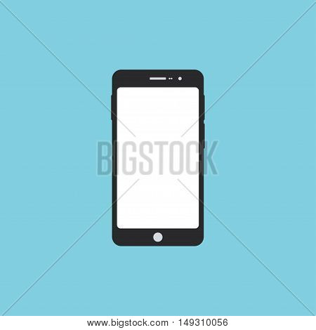 Smartphone flat icon. Modern gadget vector illustration. Smartphone with blank screen.
