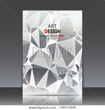 Abstract Composition, Polygonal Construction, Connecting Dots And Lines, A4 Brochure Title Sheet, Ba