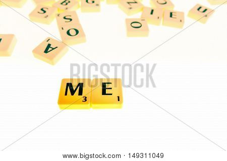 The Board Game having tiles with letters to form words and sentences