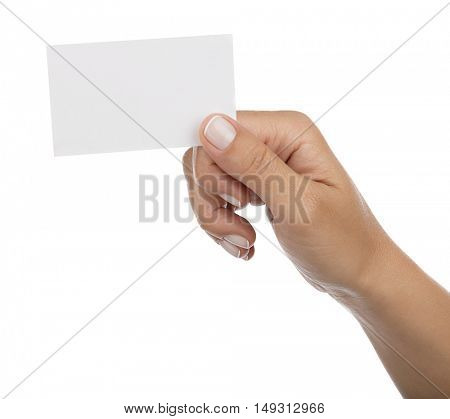 Empty Business Card Isolated