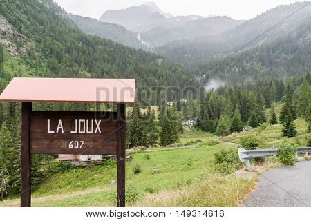 a view of la joux at aosta valley