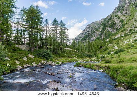 a view of veny valley at aosta italy