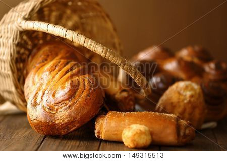 Fresh bakery products, closeup