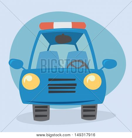 Cartoon car - front view