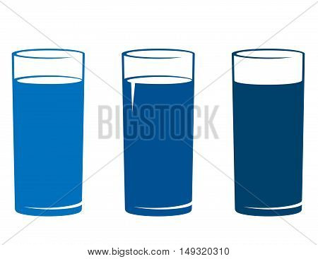 Isolated Water Glass Set