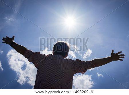 Hugging the sun