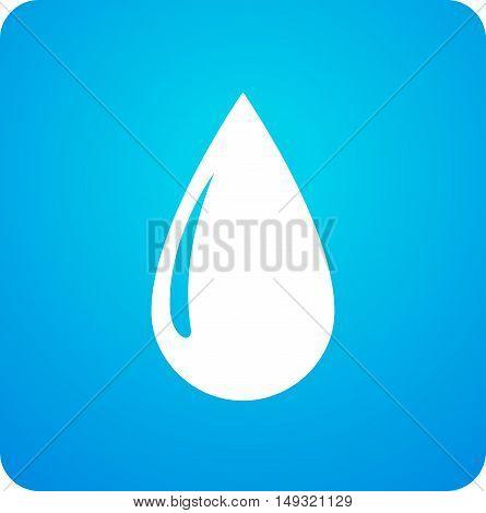 Blue Droplet Symbol