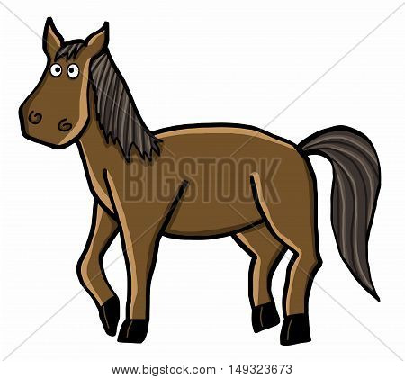 horse cartoon vector illustration cartoon animal character