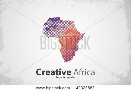 Africa. Creative africa logo design. Africa map