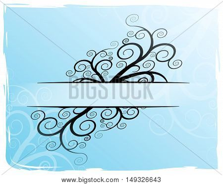 Illustration of blue abstract title design background