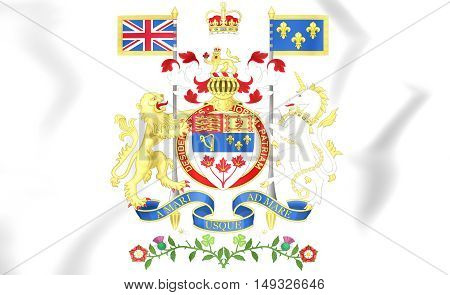 Canada Coat of Arms. 3D Illustration. Close Up.