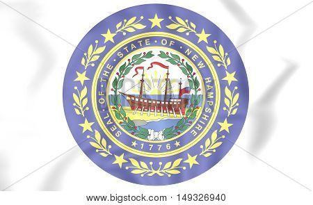 Seal Of New Hampshire, Usa. 3D Illustration.