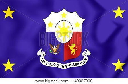 President Of Philippines Standard (1946-1948). 3D Illustration.