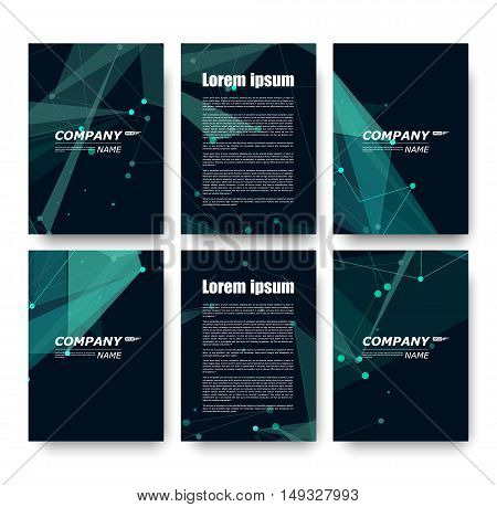 Abstract Composition, Business Card Set, Correspondence Letter Collection, Brochure Title Sheet, Cer