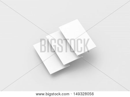 Blank white rectangles for web site design mockup clipping path 3d rendering.