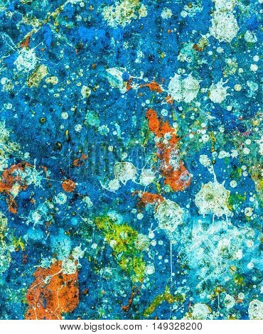 paint drops. Multi-colored splashes create a beautiful abstract picture.  can be used as the background