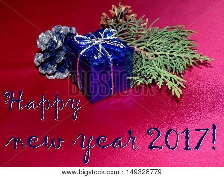 beautiful happy new year background Christmas decorations