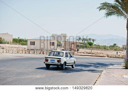 Hurghada, Egypt -20 August 2016: Fiat/ Nasr 128 Gls Berline Car With Egypt License Plate