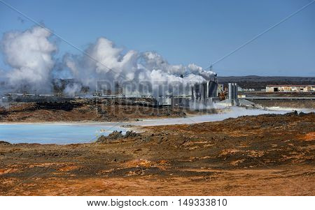 Geothermally active at Iceland, near the capital