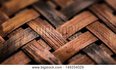 Texture of woven basket as background wallpaper