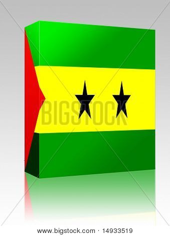 Software package box Flag of Sao Tome and Principe, national country symbol illustration