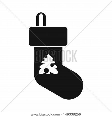 Christmas sock icon in simple style on a white background vector illustration