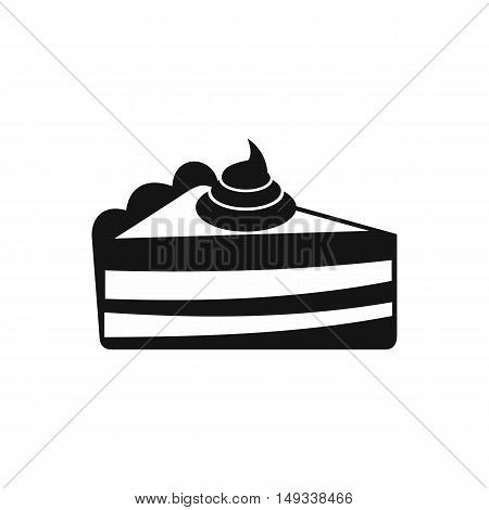 Piece of cake icon in simple style on a white background vector illustration