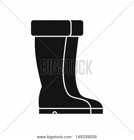 Winter shoes icon in simple style on a white background vector illustration