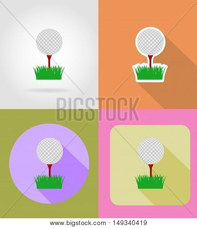 golf ball flat icons vector illustration isolated on background