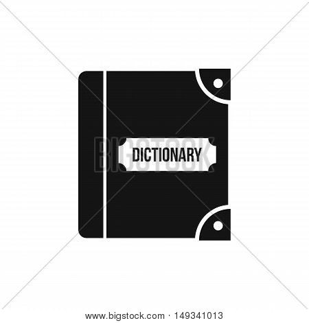English dictionary icon in simple style on a white background vector illustration