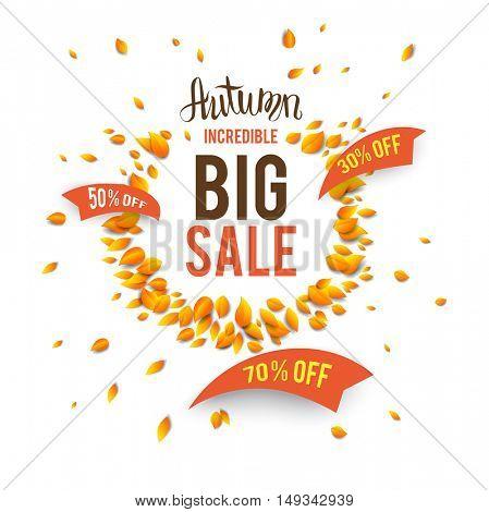 Big seasonal fall sale