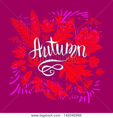 Autumn bright design