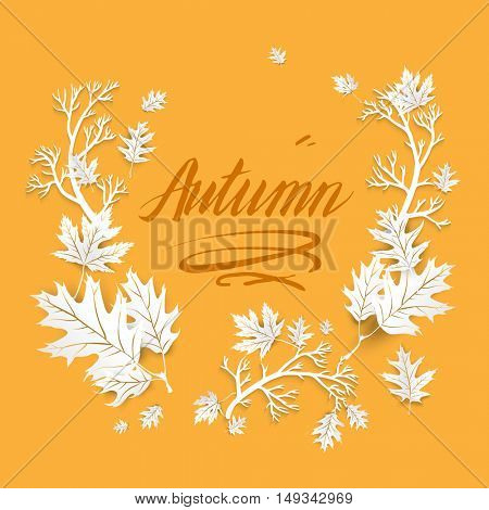 Autumn image with leaves