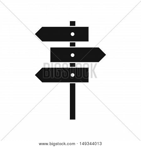 Direction signs icon in simple style on a white background vector illustration